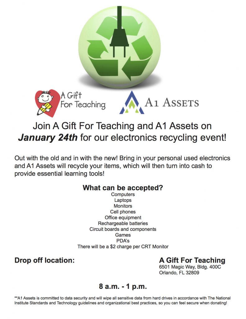A Gift for Teaching Recycling Event Jan 2015