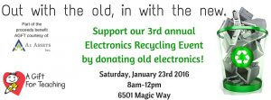 A Gift for Teaching Recycling Event Jan 2016
