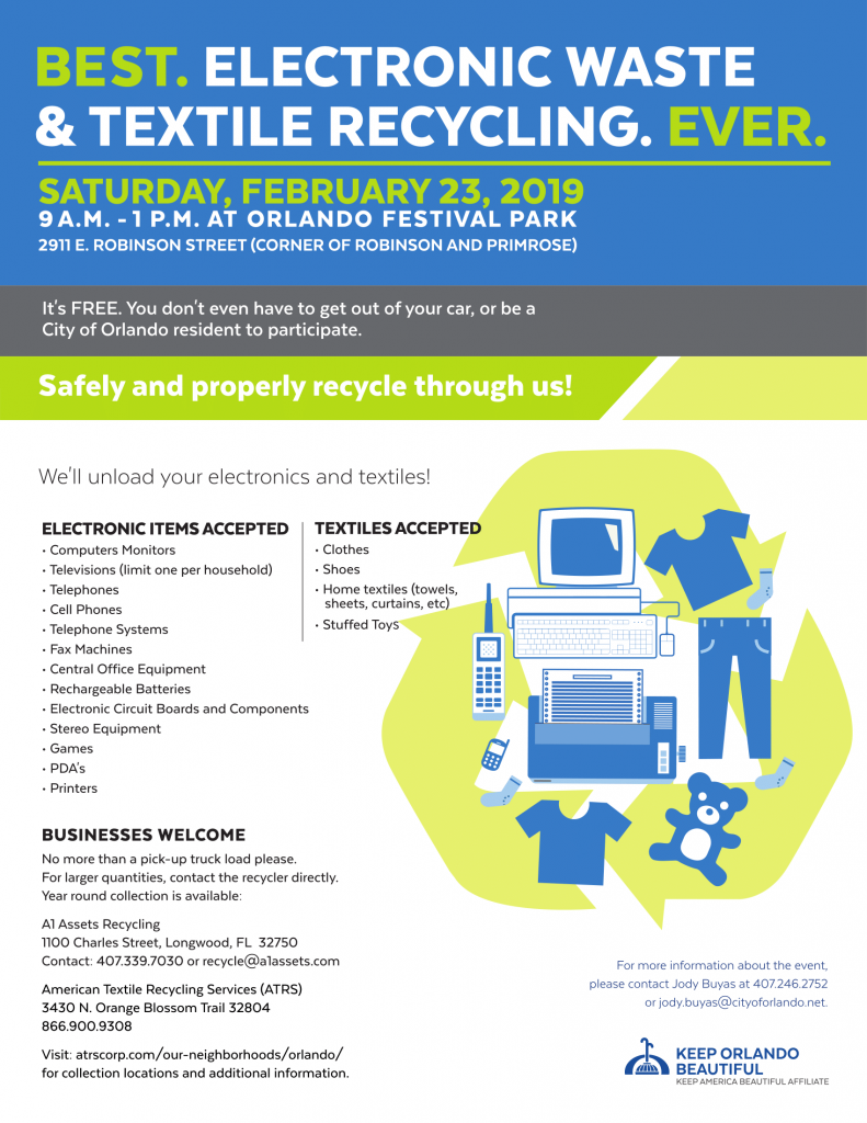 A1 Assets & City of Orlando Host Electronic Recycling Drive